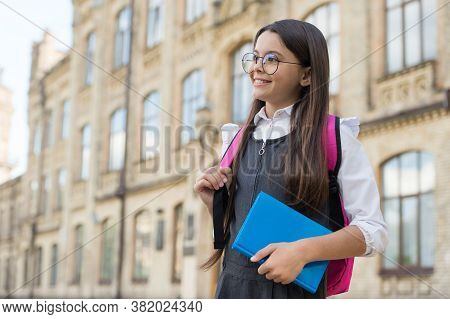 Always Do Our Best At School. Happy Child Go To School. September 1. Back To School. Knowledge Day.