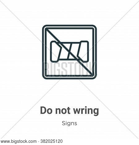 Do not wring icon isolated on white background from signs collection. Do not wring icon trendy and m