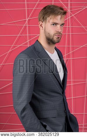 Sexy Man In Stylish Jacket. Male Formal Fashion. Business Fashion And Dress Code. Confident Business