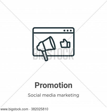 Promotion icon isolated on white background from social media marketing collection. Promotion icon t