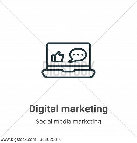 Digital marketing icon isolated on white background from social media marketing collection. Digital