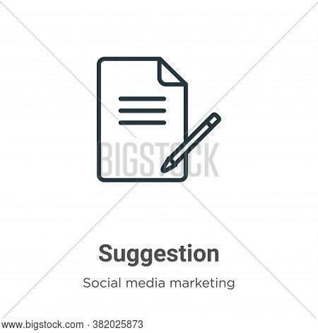 Suggestion Icon From Social Media Collection Isolated On White Background.