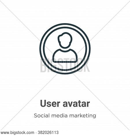 User avatar icon isolated on white background from social collection. User avatar icon trendy and mo