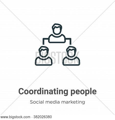 Coordinating People Icon From Social Collection Isolated On White Background.