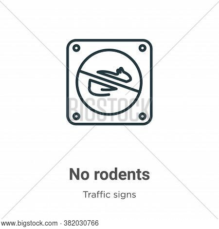No Rodents Icon From Traffic Signs Collection Isolated On White Background.