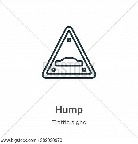 Hump icon isolated on white background from traffic signs collection. Hump icon trendy and modern Hu