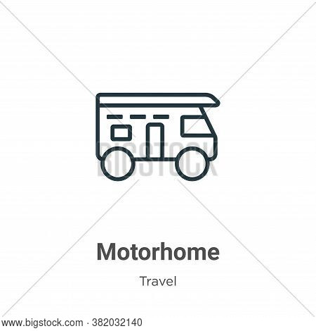 Motorhome icon isolated on white background from travel collection. Motorhome icon trendy and modern