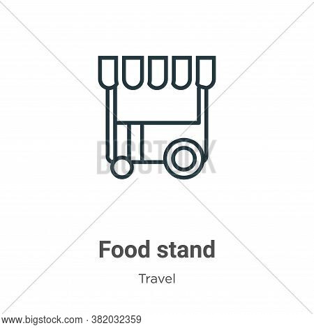 Food stand icon isolated on white background from travel collection. Food stand icon trendy and mode