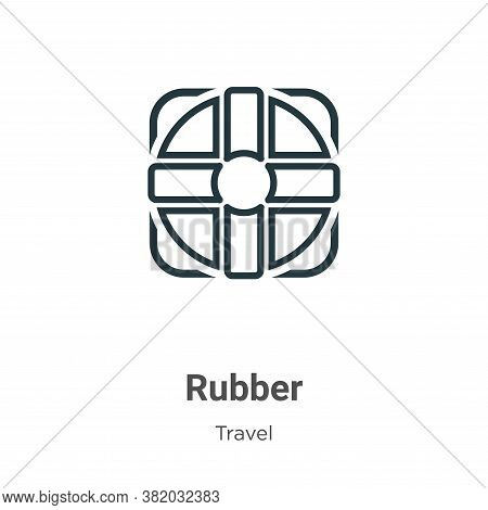 Rubber icon isolated on white background from travel collection. Rubber icon trendy and modern Rubbe