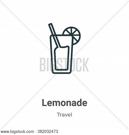 Lemonade icon isolated on white background from travel collection. Lemonade icon trendy and modern L