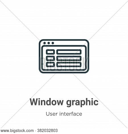 Window graphic icon isolated on white background from user interface collection. Window graphic icon