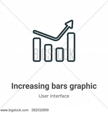 Increasing bars graphic icon isolated on white background from user interface collection. Increasing