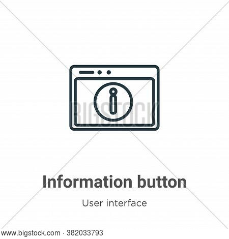 Information button icon isolated on white background from user interface collection. Information but