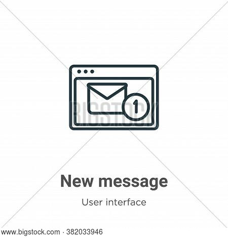 New message icon isolated on white background from user interface collection. New message icon trend