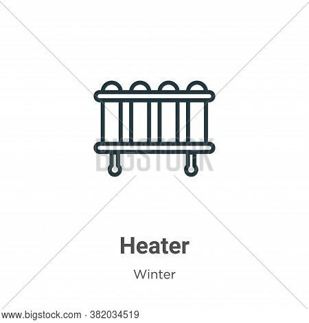 Heater icon isolated on white background from winter collection. Heater icon trendy and modern Heate