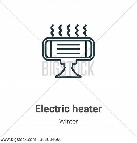 Electric heater icon isolated on white background from winter collection. Electric heater icon trend