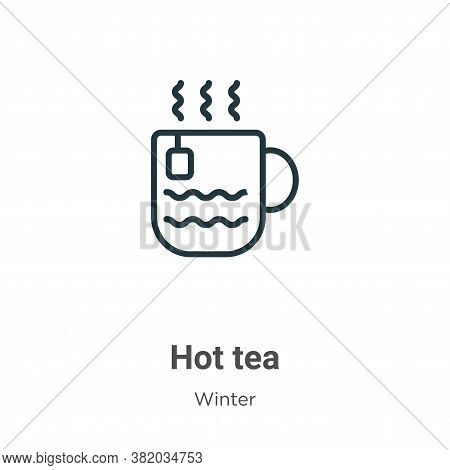 Hot tea icon isolated on white background from winter collection. Hot tea icon trendy and modern Hot