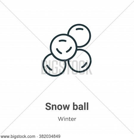 Snow ball icon isolated on white background from winter collection. Snow ball icon trendy and modern
