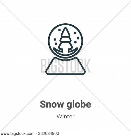 Snow globe icon isolated on white background from winter collection. Snow globe icon trendy and mode