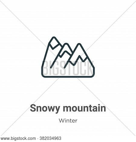 Snowy mountain icon isolated on white background from winter collection. Snowy mountain icon trendy