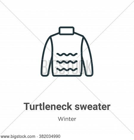 Turtleneck sweater icon isolated on white background from winter collection. Turtleneck sweater icon