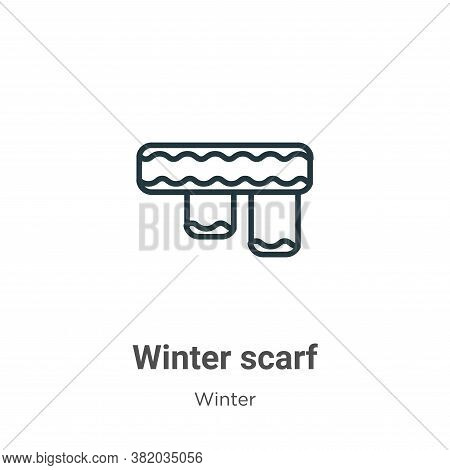 Winter scarf icon isolated on white background from winter collection. Winter scarf icon trendy and