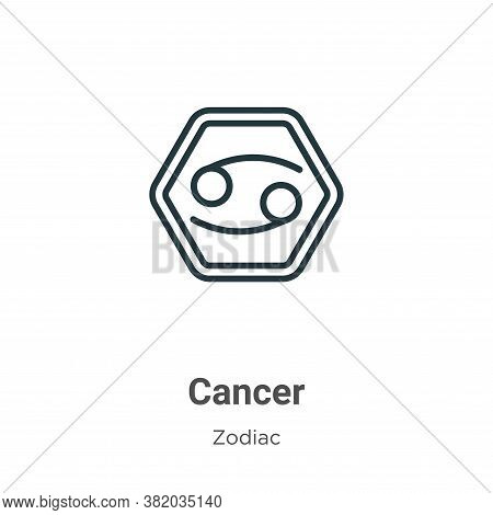 Cancer icon isolated on white background from zodiac collection. Cancer icon trendy and modern Cance