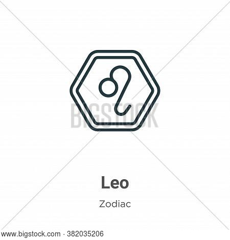 Leo icon isolated on white background from zodiac collection. Leo icon trendy and modern Leo symbol