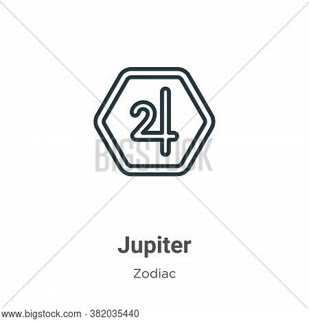 Jupiter icon isolated on white background from zodiac collection. Jupiter icon trendy and modern Jup
