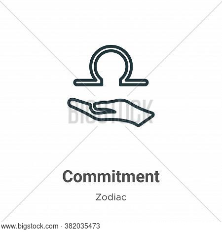 Commitment icon isolated on white background from zodiac collection. Commitment icon trendy and mode