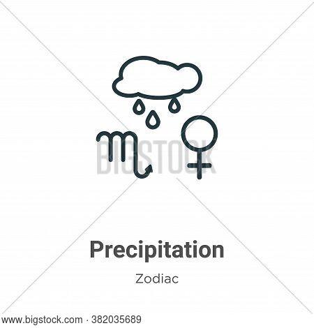 Precipitation icon isolated on white background from zodiac collection. Precipitation icon trendy an