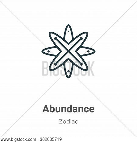 Abundance icon isolated on white background from zodiac collection. Abundance icon trendy and modern