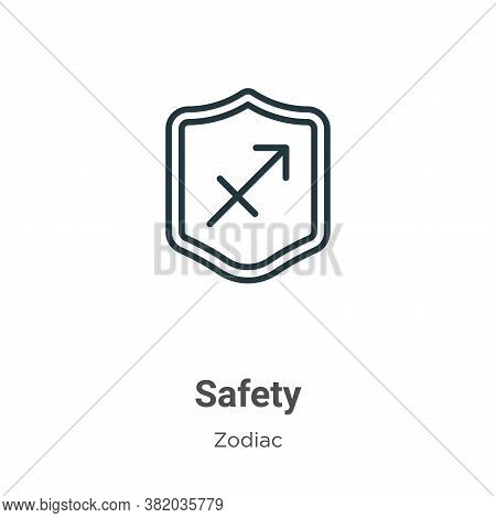 Safety icon isolated on white background from zodiac collection. Safety icon trendy and modern Safet