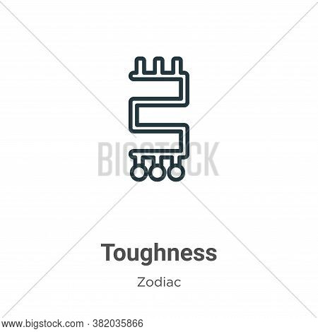 Toughness icon isolated on white background from zodiac collection. Toughness icon trendy and modern