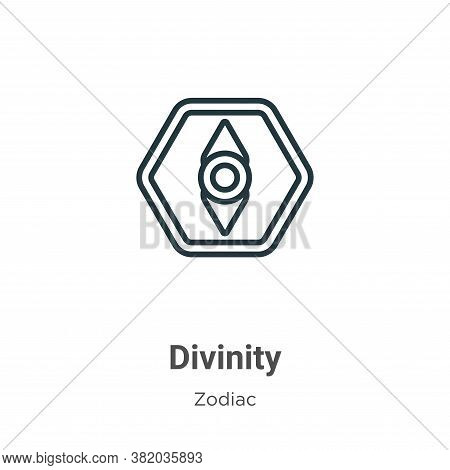 Divinity icon isolated on white background from zodiac collection. Divinity icon trendy and modern D