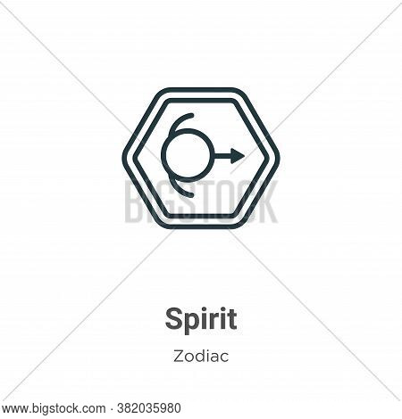Spirit icon isolated on white background from zodiac collection. Spirit icon trendy and modern Spiri