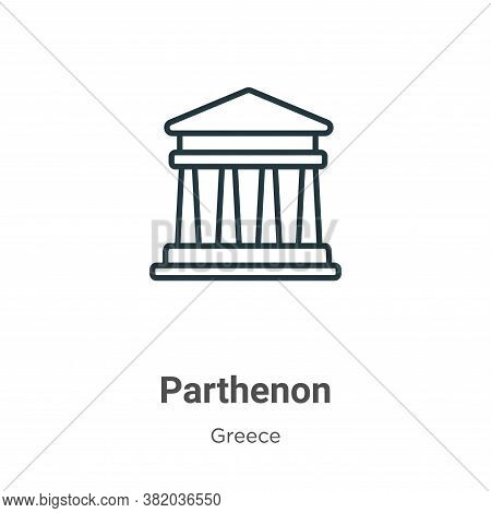 Parthenon icon isolated on white background from greece collection. Parthenon icon trendy and modern