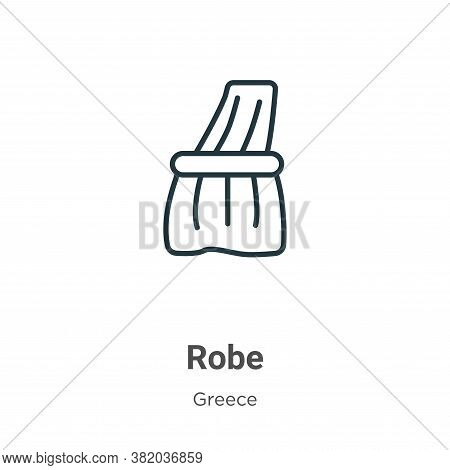 Robe icon isolated on white background from greece collection. Robe icon trendy and modern Robe symb