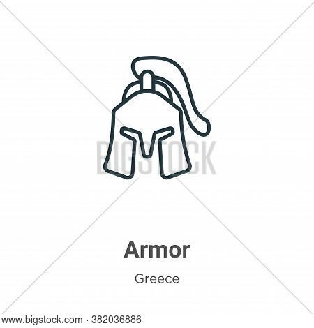 Armor icon isolated on white background from greece collection. Armor icon trendy and modern Armor s