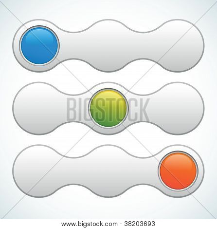Vector web slider switcher