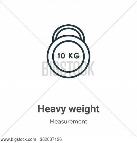 Heavy weight icon isolated on white background from measurement collection. Heavy weight icon trendy