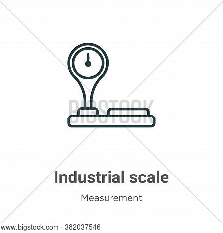 Industrial scale icon isolated on white background from measurement collection. Industrial scale ico