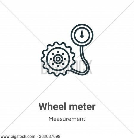 Wheel meter icon isolated on white background from measurement collection. Wheel meter icon trendy a