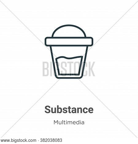 Substance icon isolated on white background from multimedia collection. Substance icon trendy and mo