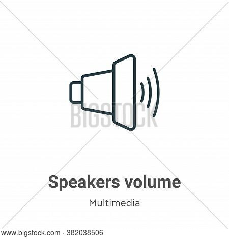 Speakers volume icon isolated on white background from multimedia collection. Speakers volume icon t