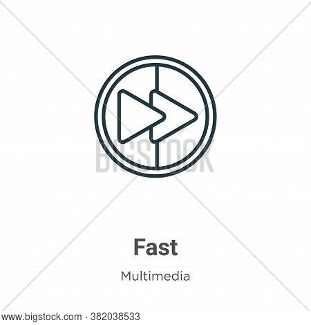 Fast icon isolated on white background from multimedia collection. Fast icon trendy and modern Fast