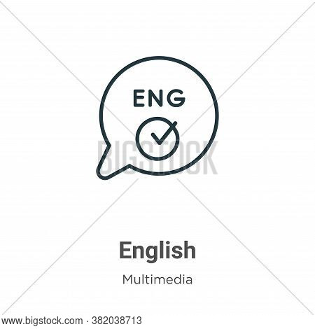 English icon isolated on white background from multimedia collection. English icon trendy and modern