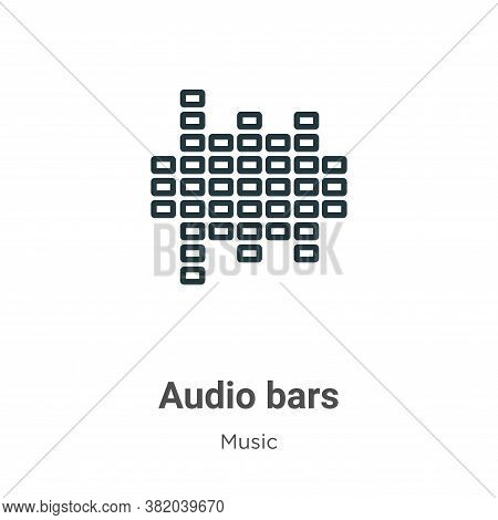 Audio bars icon isolated on white background from music collection. Audio bars icon trendy and moder