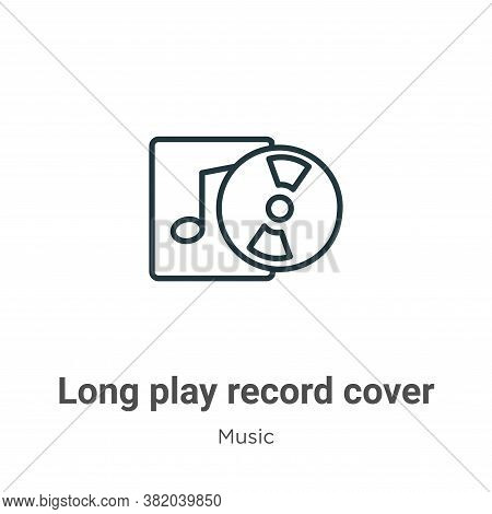 Long play record cover icon isolated on white background from music collection. Long play record cov