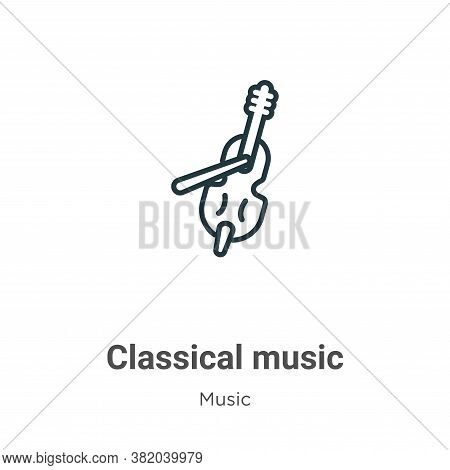 Classical music icon isolated on white background from music collection. Classical music icon trendy